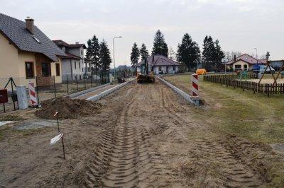 Inwestycje wgminie - przebudowa ulic: Okrężna iDziałkowa wKrajence