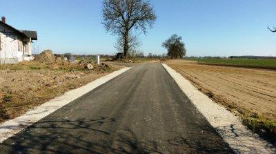 Inwestycje wgminie - przebudowa drogi wGłubczynie