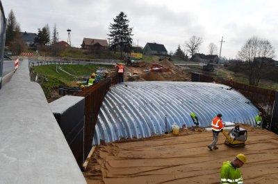 Inwestycje wgminie - budowa mostu wSkórce