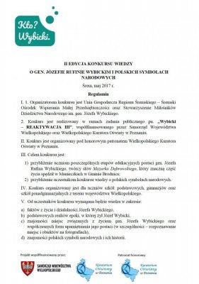 Konkurs oJózefie Wybickim