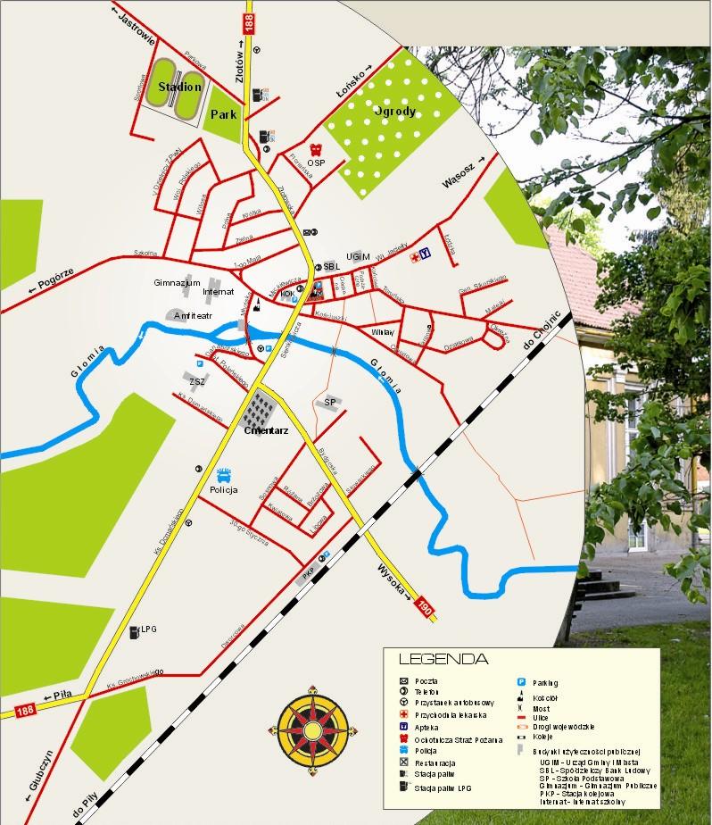 plan miasta Krajenka