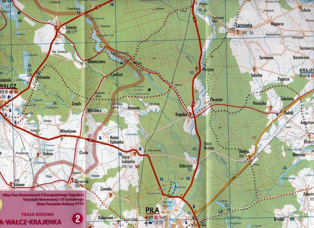 Trasa Różowa Mapa